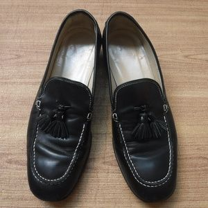 Coach Black Leather Upper Hepburn Loafer Shoes